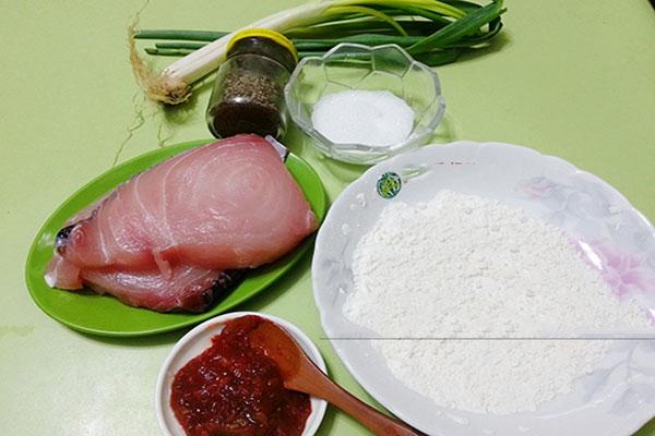 Nguyên liệu cho món cá ngừ sốt mắm cay